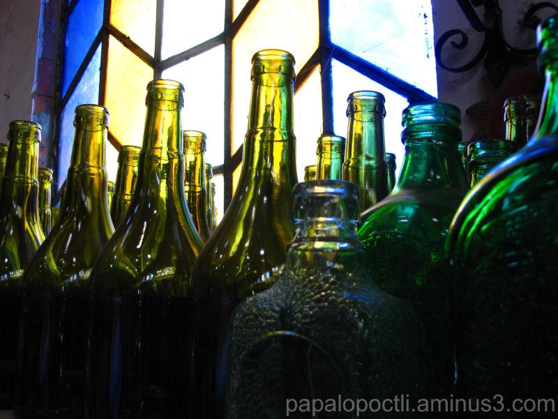 Botellas en contraluz