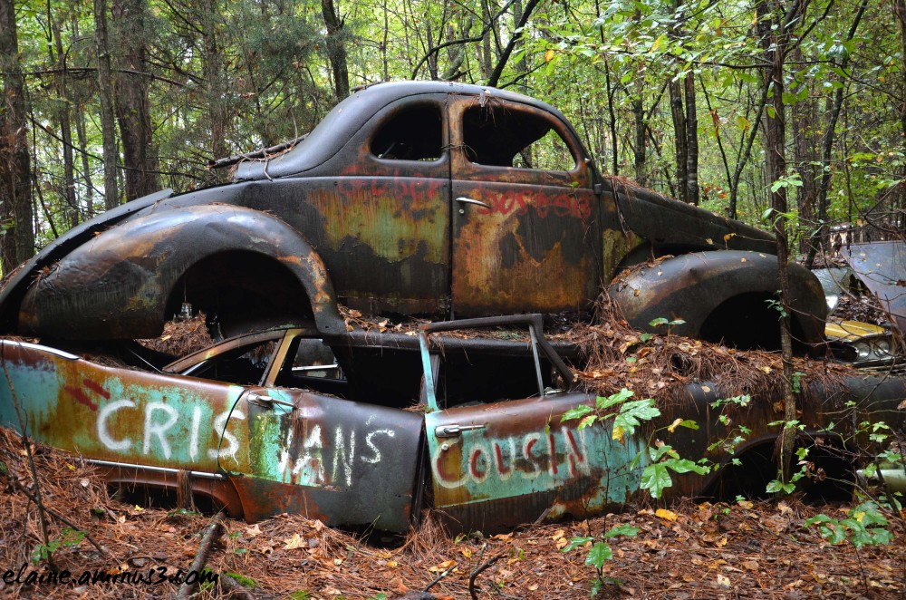 junkyard car