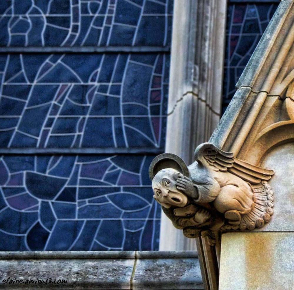 angel and window