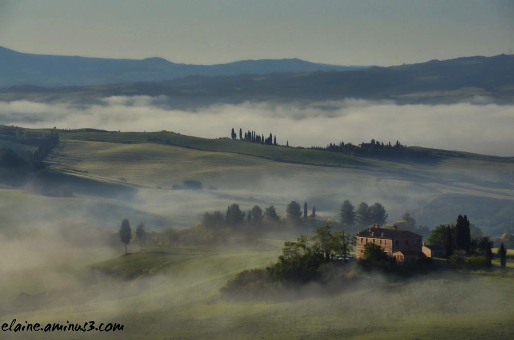 landscape and fog