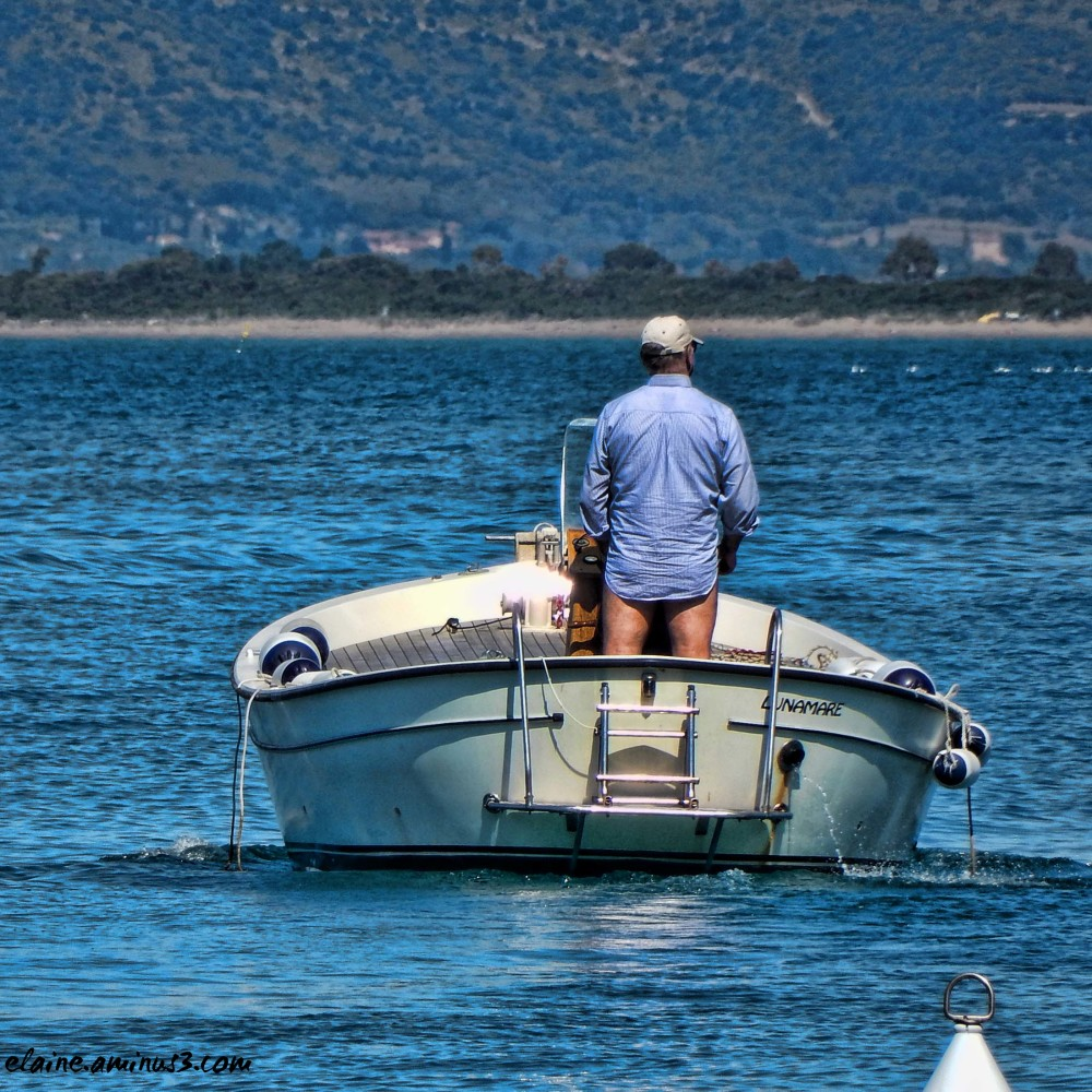 man and boat