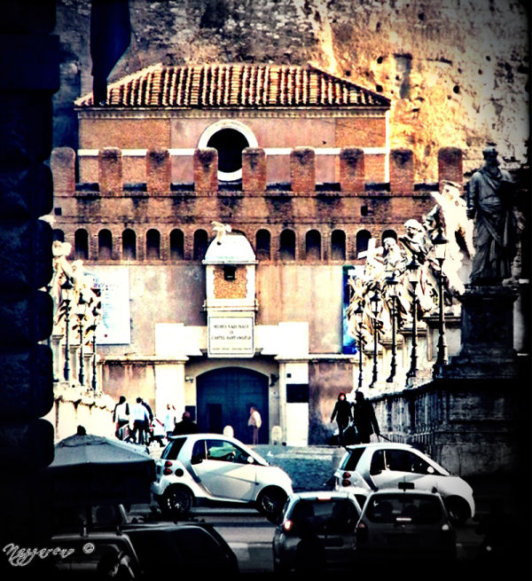 Rome, angels, street