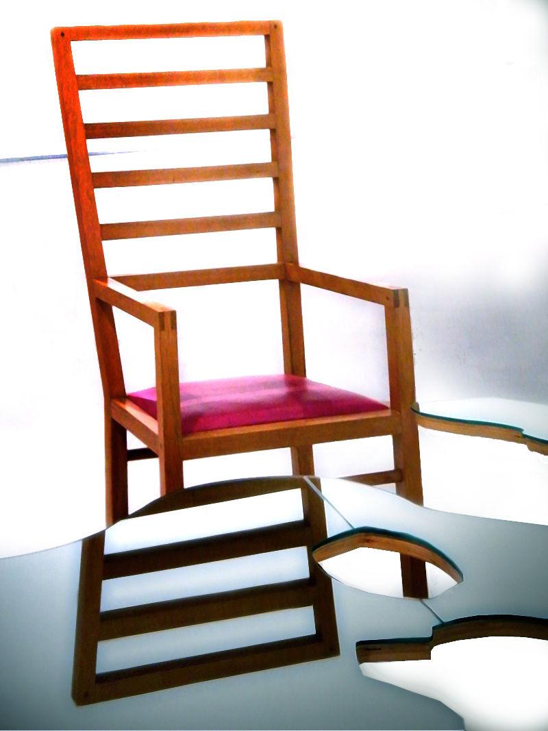 Chair, light & mirror