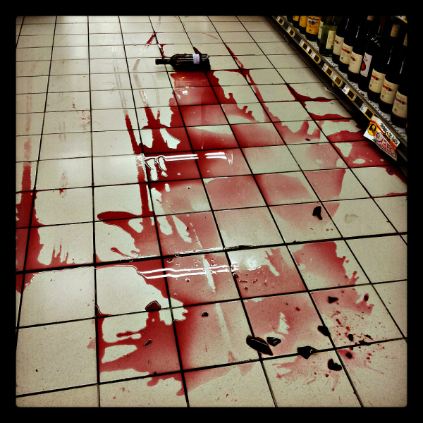 A mysterious murder at the supermarket...
