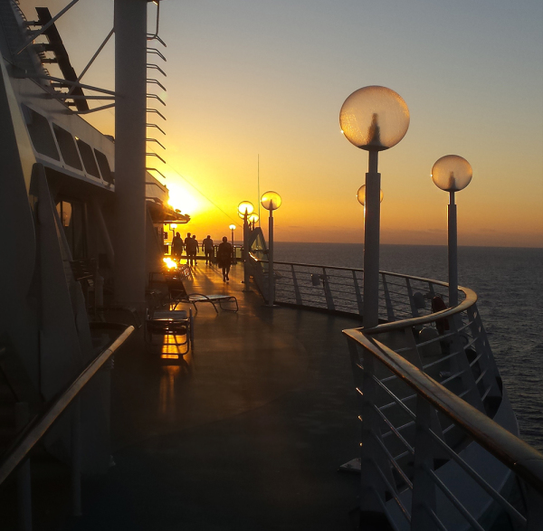 Sunset and surroundings