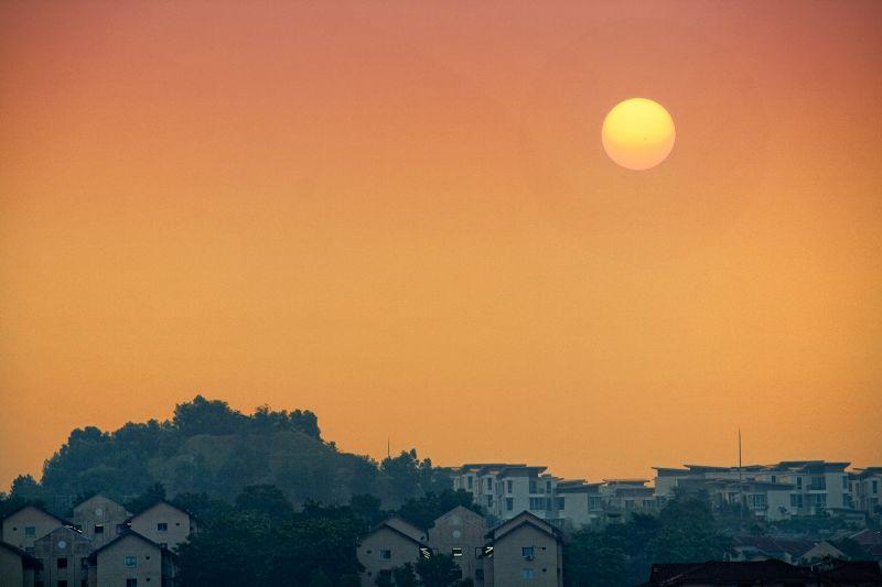 Sunset view from Kinrara playground