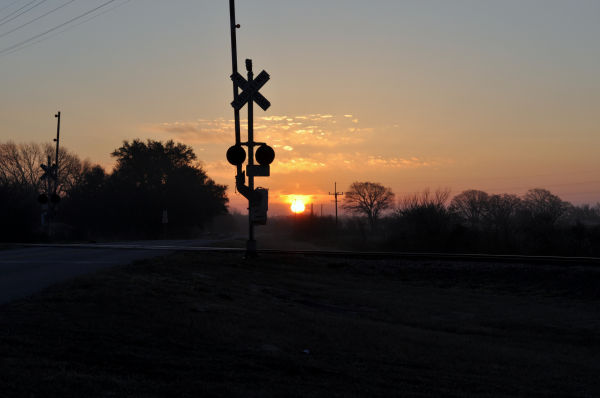 sunrise in Hood county