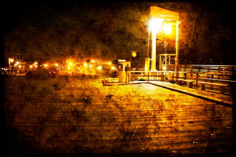 night--photography street Santa-Barbara overlay