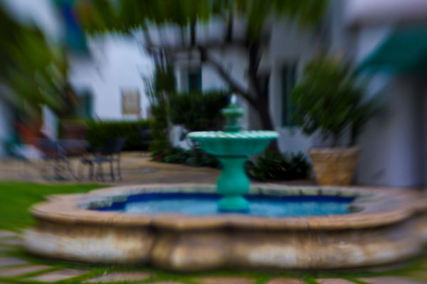 Santa Barbara, El Paseo, Fountain, Lensbaby
