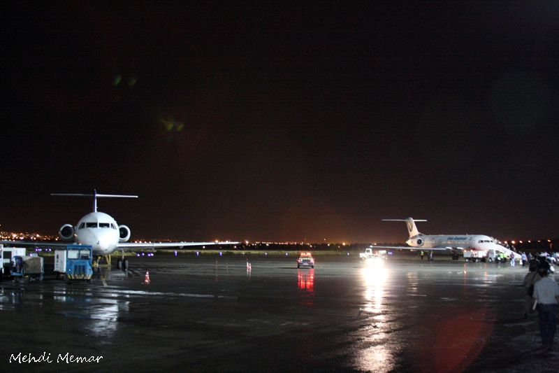 Airport at night