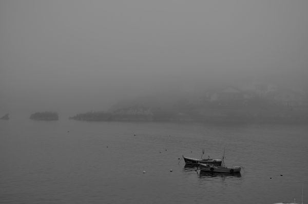 foggy day in Luanco
