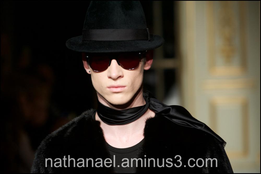 Man in black...
