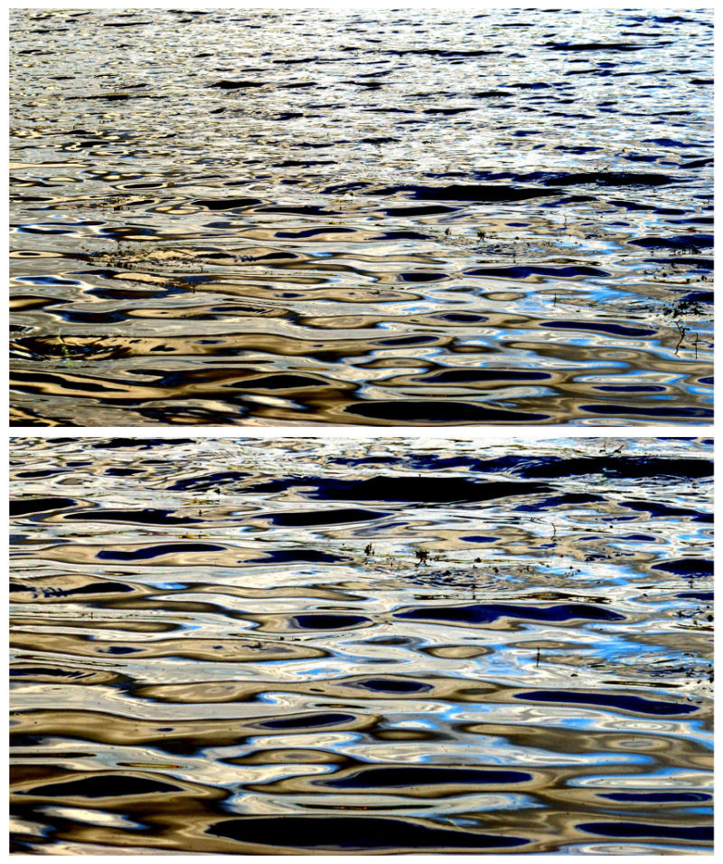 Water, Ripples, Reflections, Blue, Metalic