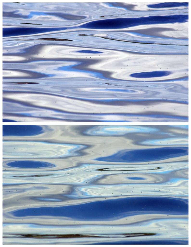 Water, blue, silver, ripples, colorspotlight