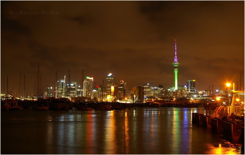 Audkland, city, night, lights, placeilive2014