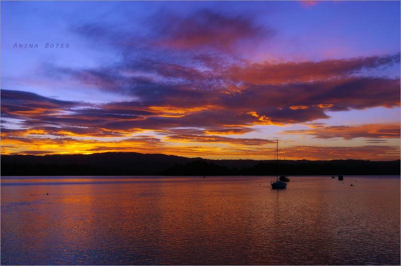 Night, Twilight, Colours, Sunset, Ocean, NZ