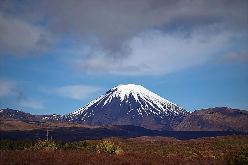 Mount Ngauruhoe, Spring, Snow, Volcano, NZ
