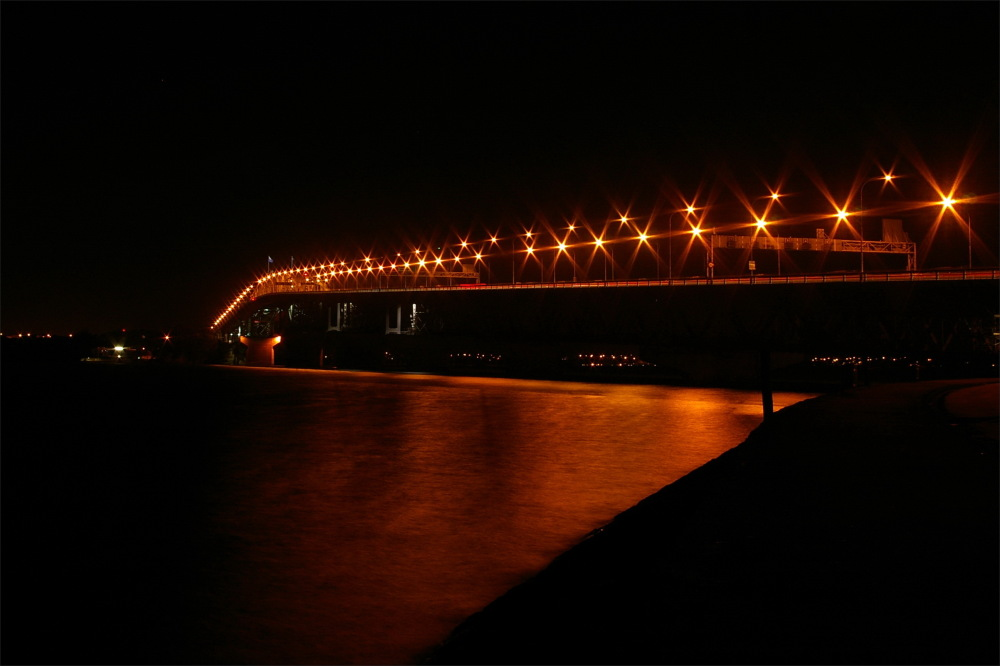 bridge, Auckland, city, NZ, new-zealand, night