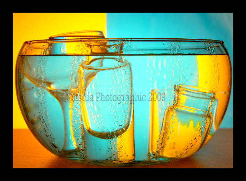 glass in bowl