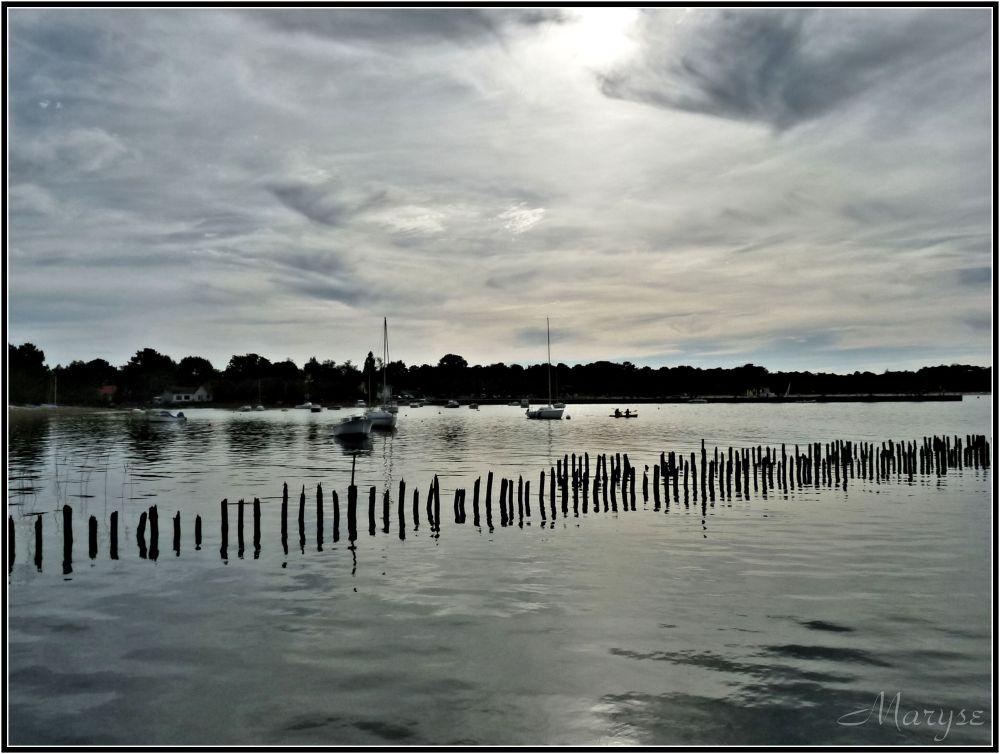 Sur le lac de Lacanau