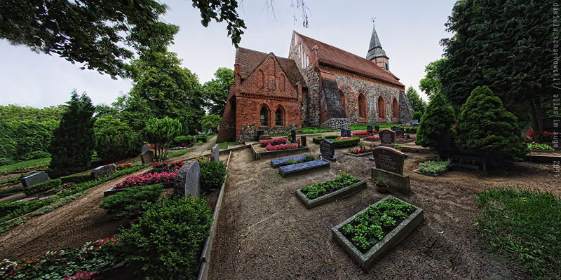 Ankershagen church / graveyard pano