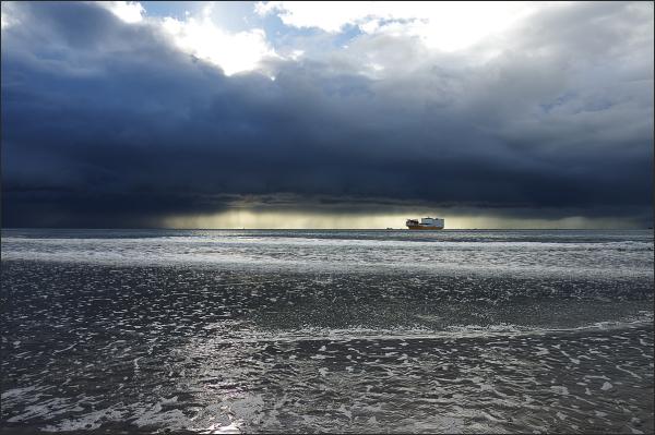 Pluie passagere sur la baie