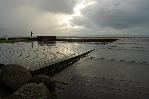 Les planches du Havre en hiver