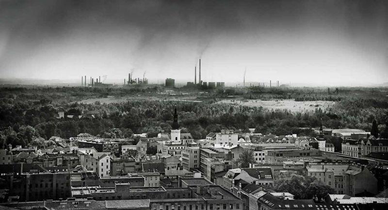 Ostrava city panorama