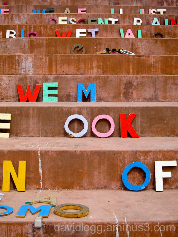 Letters on Steps