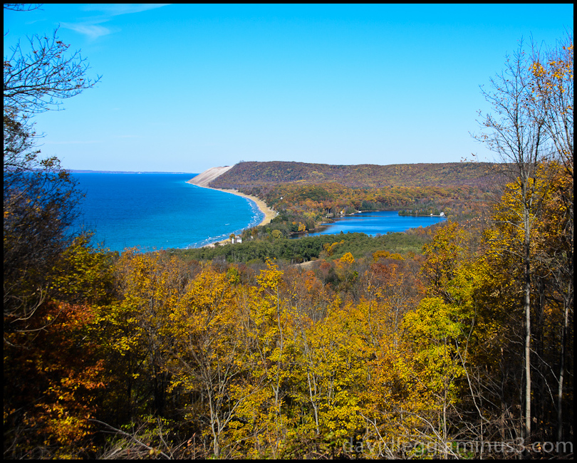 Sleeping Bear Dunes from Empire Bluffs Trail