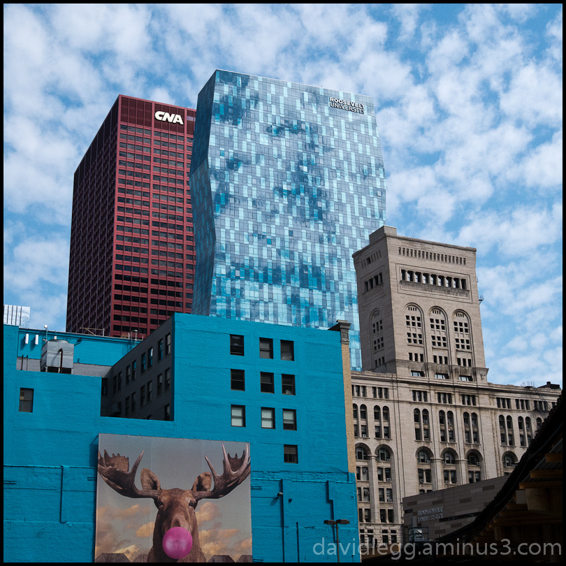 Clustered Buildings and Sky, Chicago