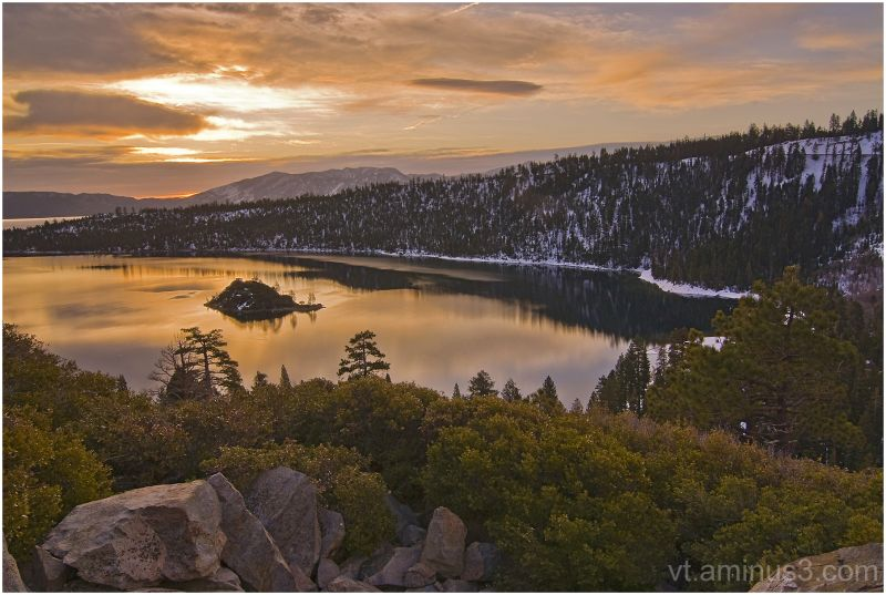 Day break at Emerald Bay, Lake Tahoe, CA