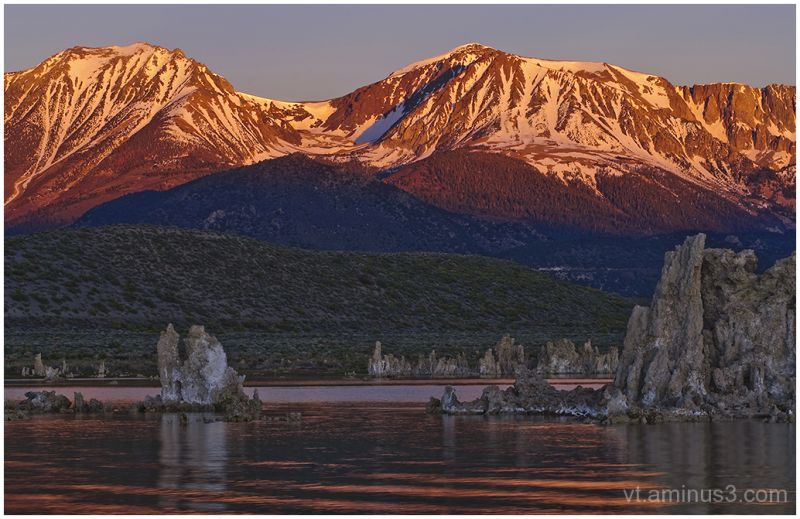 Mount Dana and Tufas at Sunrise, Mono Lake, CA