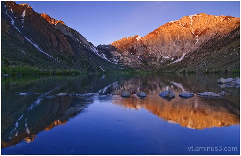 Convict Lake and Laurel Mountain at sunrise