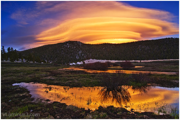 Lenticular Clouds over Horseshoe Meadow at Sunset