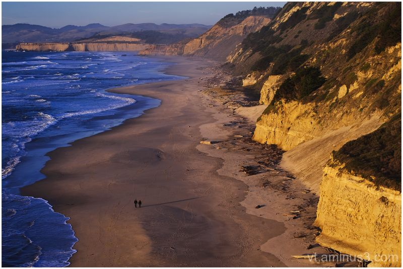 At Sunset, Overlooking San Gregorio Beach, CA