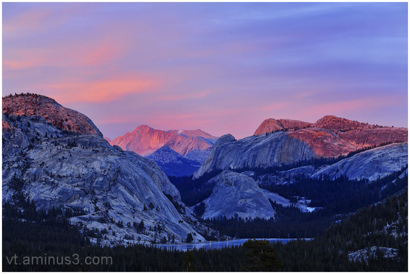 Last Light over Mount Conness, Yosemite, CA