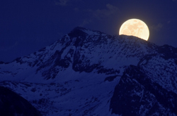 Super Moon Rise over Sierra Crest, Yosemite, CA