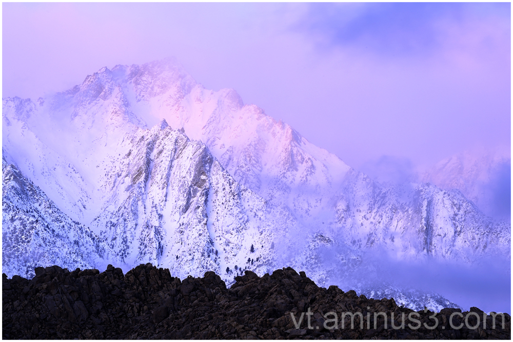Alpenglow at Dawn, Lone Pine, CA
