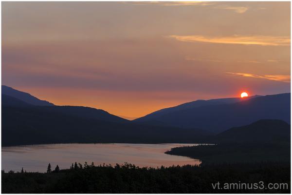 Midnight Sunset, Wonder Lake, Denali NP, Alaska