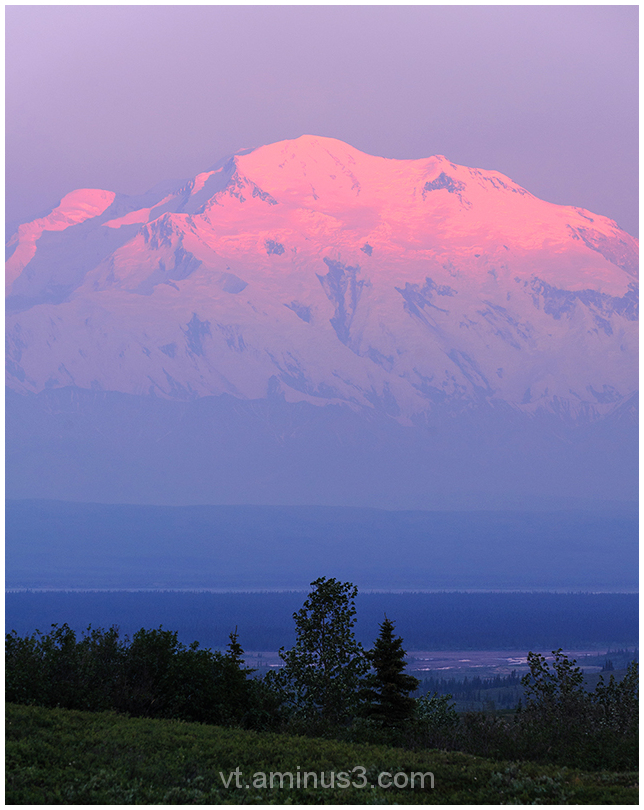 Alpenglow on Mount Denali, Denali NP, Alaska