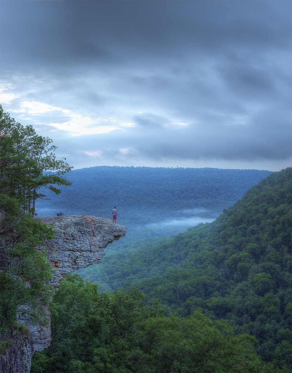 Hawksbill Crag, Arkansas at sunrise