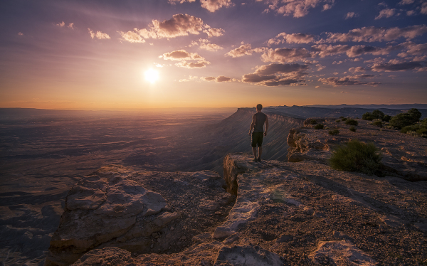 sunset at mount garfield in grand junction colorad