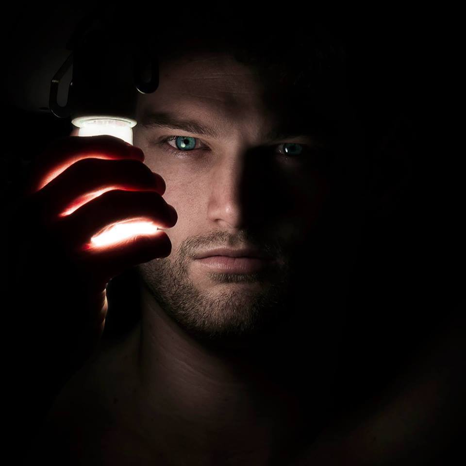 Self Portrait with lightbulb