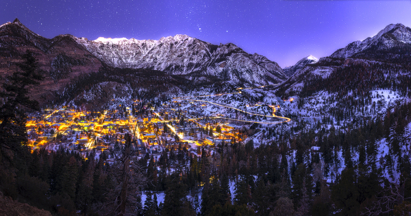 ouray colorado at night