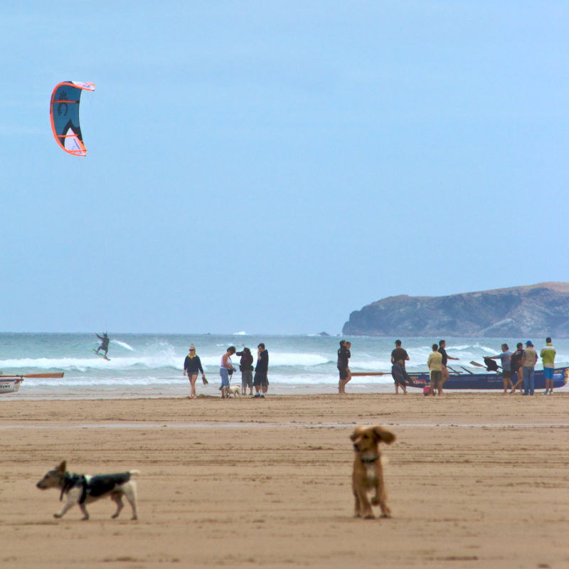 The hive of activity: Watergate Bay, Newquay