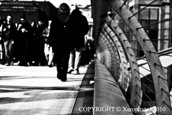 Walking in Millennium Bridge