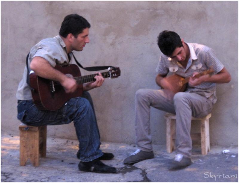 Panduri and Guitar
