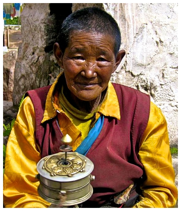 With my prayer wheel II
