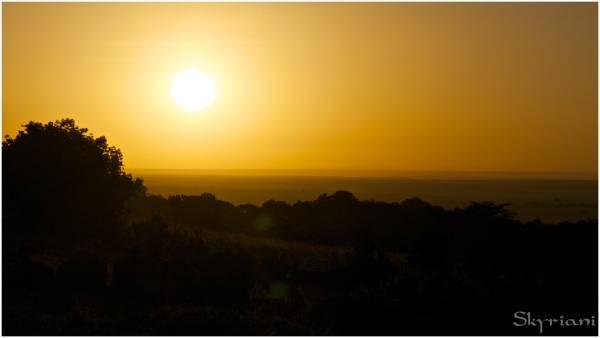 Sunrise over the Mara
